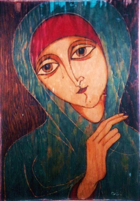 Madonna Greeting Card - Madonna by Rae Chichilnitsky