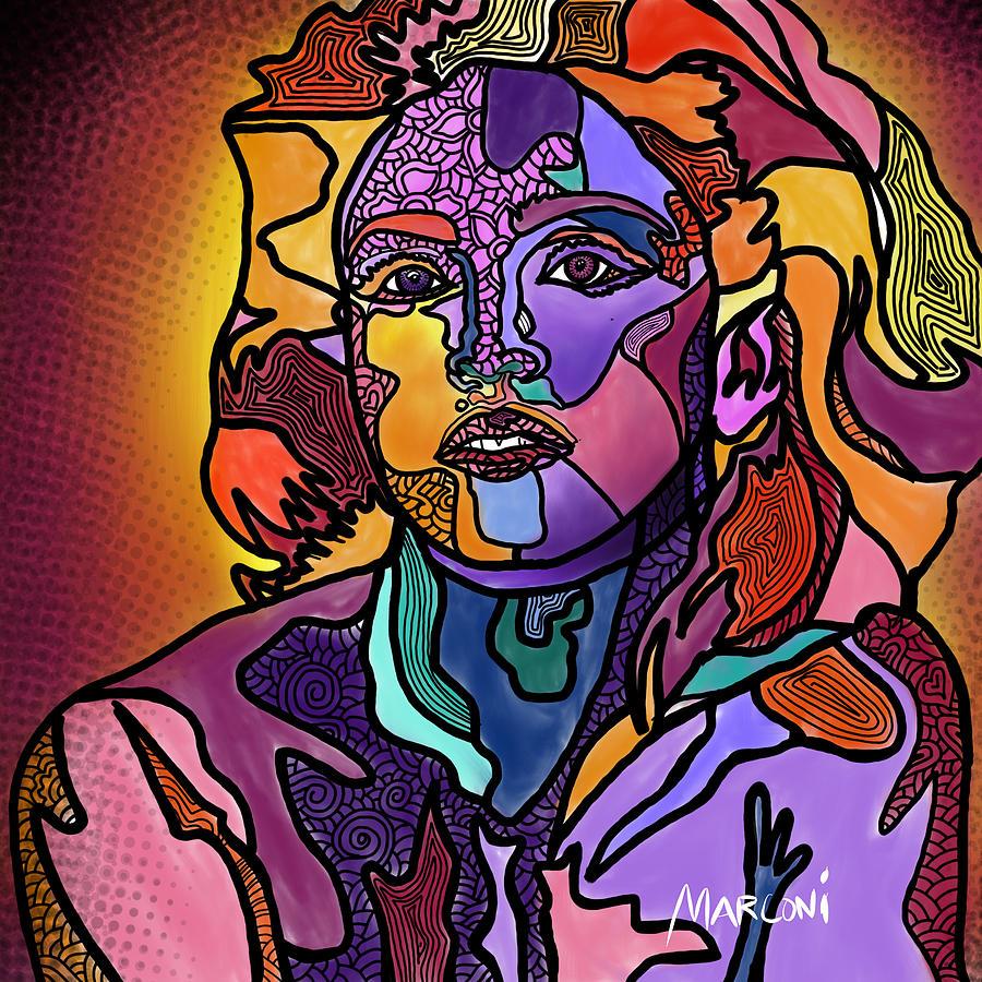 Madonna Digital Art - Madonna The Rebel by Marconi Calindas