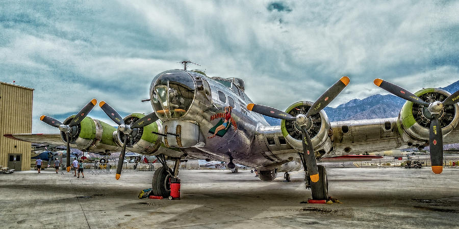 Madras Maiden B-17 Bomber by Sandra Selle Rodriguez