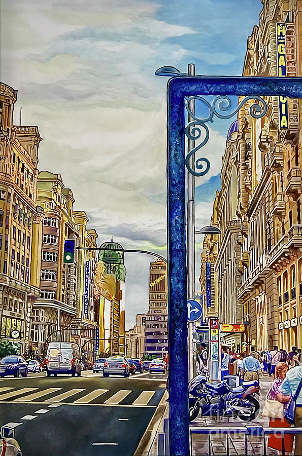Cityscapes Painting - Madrid by Antonio De Irun