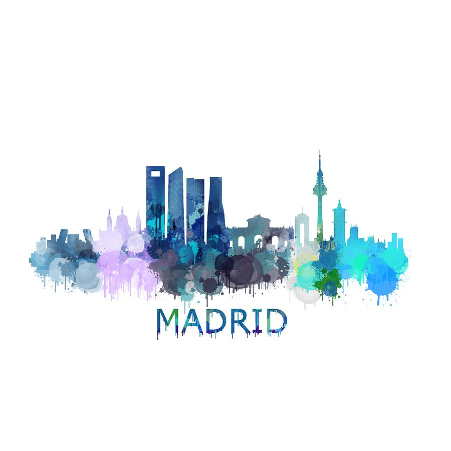 Madrid City Skyline Hq V2 Digital Art By Hq Photo