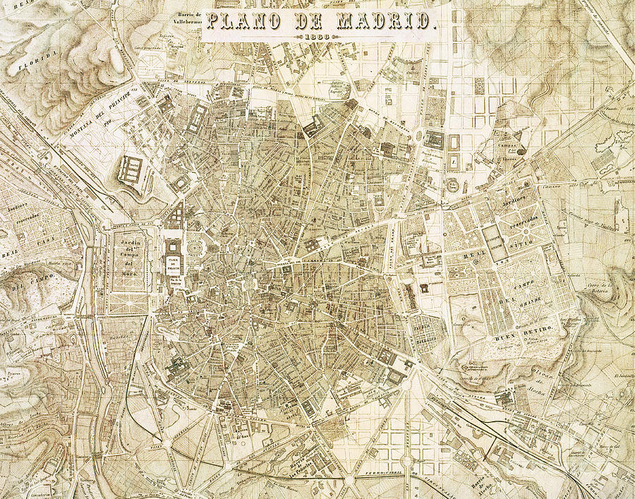 Madrid Spain Vintage City Map Photograph By Elite Image Photography By Chad Mcdermott