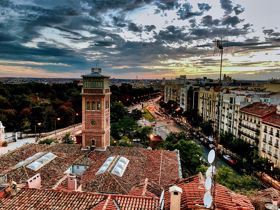 Madrid Sunset by Nora Martinez