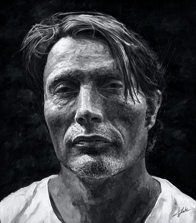Mads Mikkelsen Painting - Mads Mikkelsen by Christian Klute