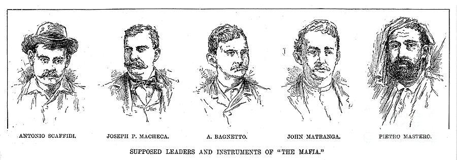 1890s Photograph - Mafia Leaders, C1890 by Granger