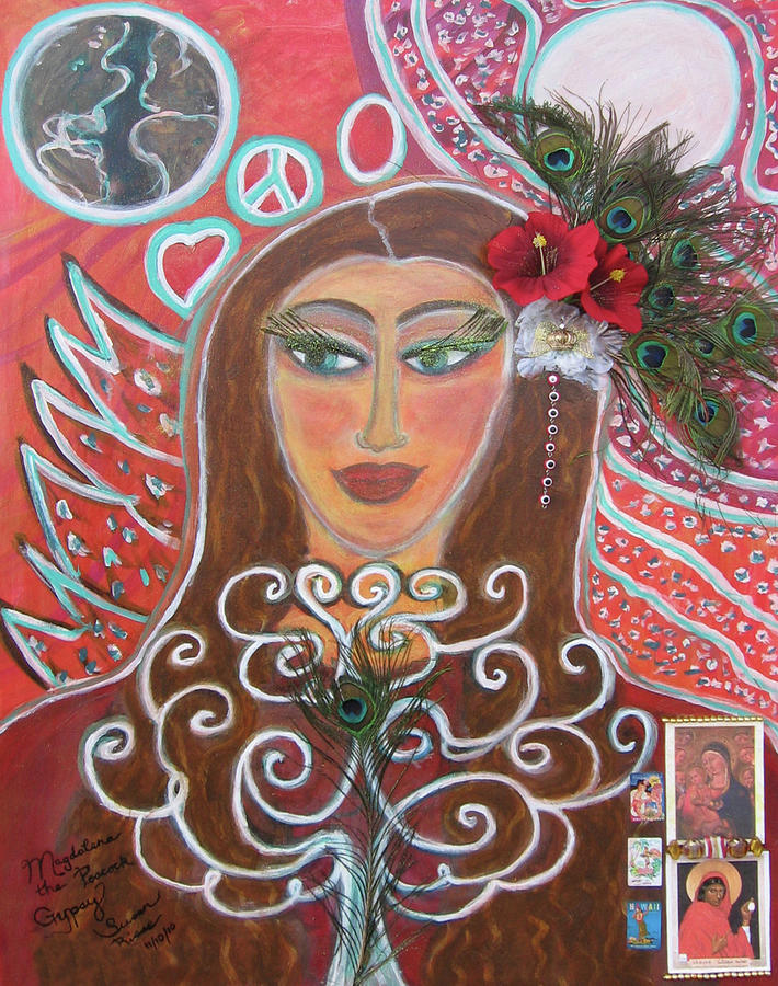 Magdalena The Peacock Gypsy Painting by Susan Risse