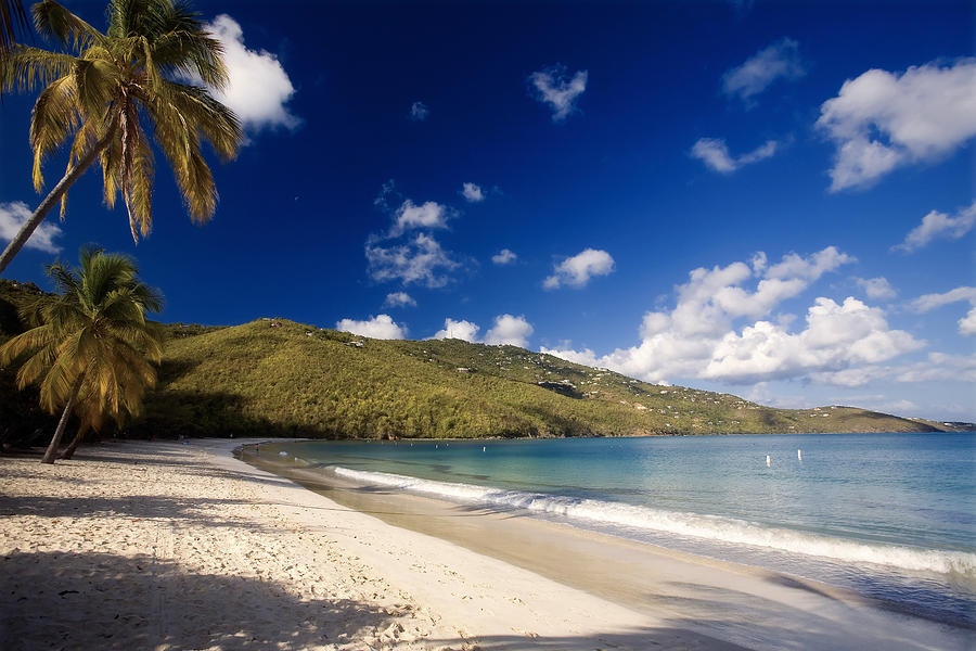 Beach Photograph - Magens Bay Morning St Thomas Us Virgin Islands by George Oze