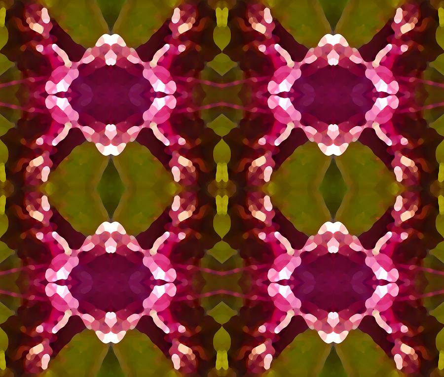 Abstract Painting Digital Art - Magenta Crystals Pattern 2 by Amy Vangsgard