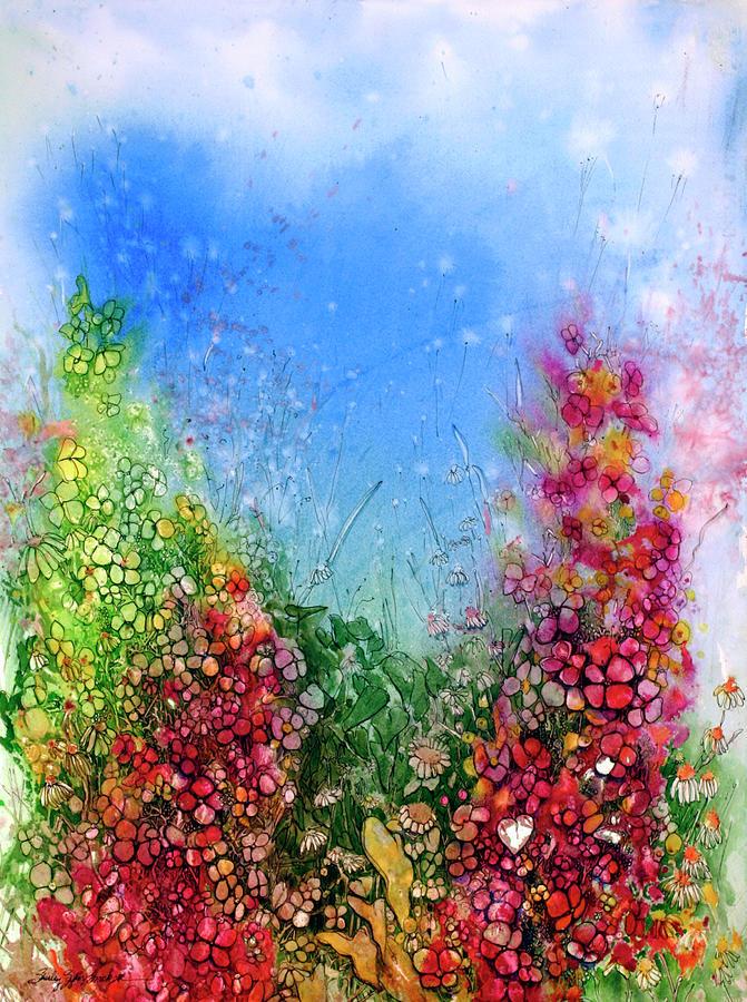 Magenta Hydrangeas Painting