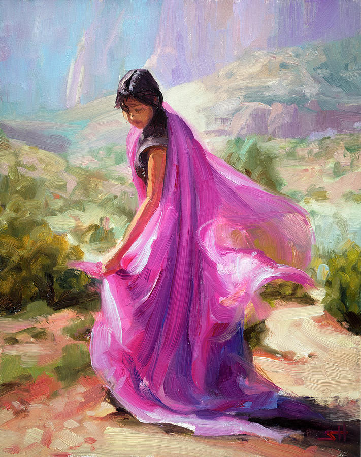 Southwest Painting - Magenta In Zion by Steve Henderson