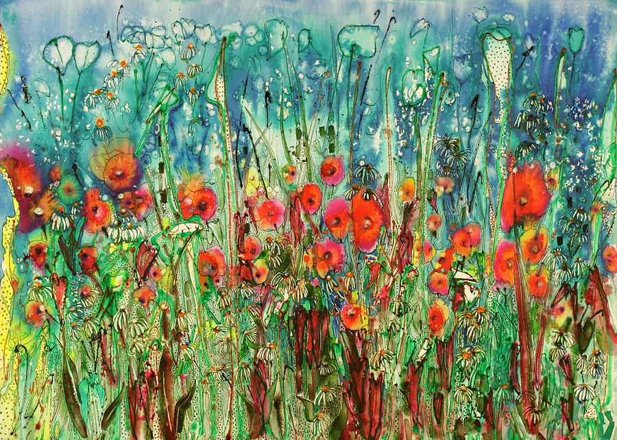Parade Of The Flowers 22x30 Painting
