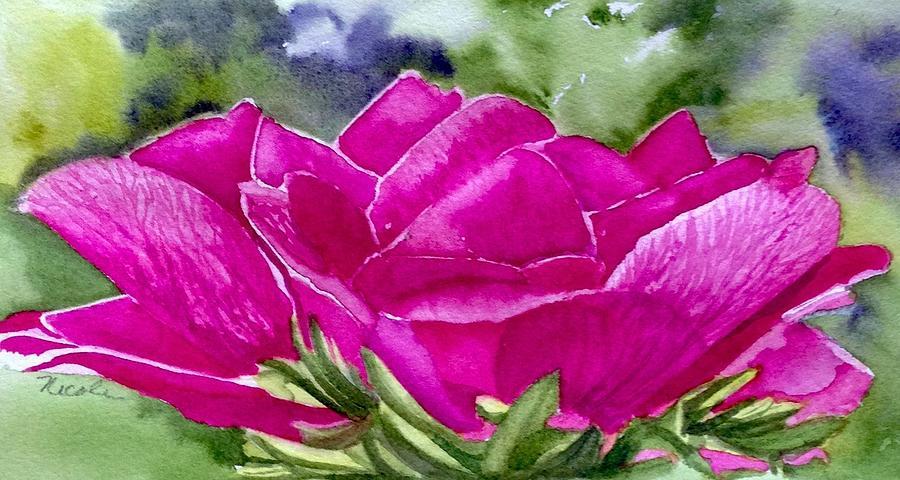 Magenta Rose Painting