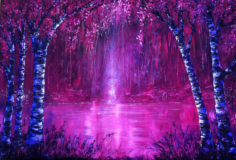 Pink Painting - Magenta Spring by Ann Marie Bone