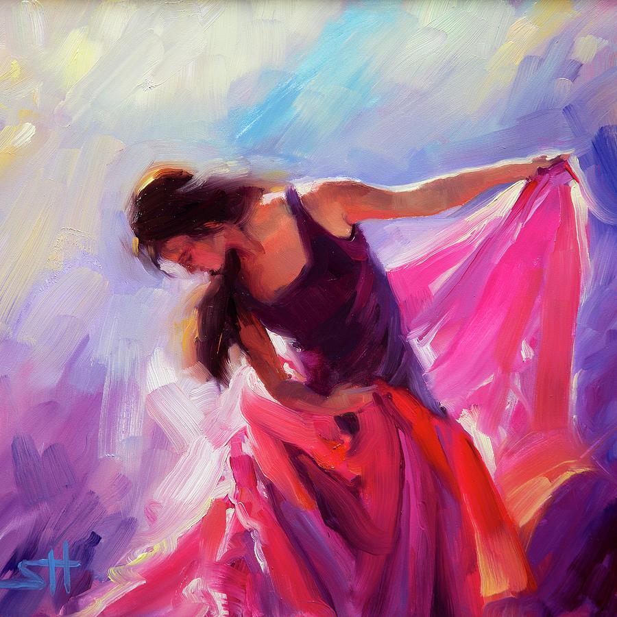 Woman Painting - Magenta by Steve Henderson