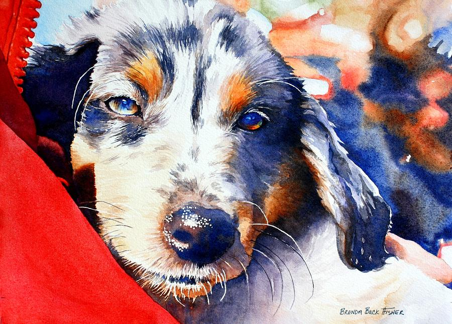 Blue Painting - Maggie by Brenda Beck Fisher