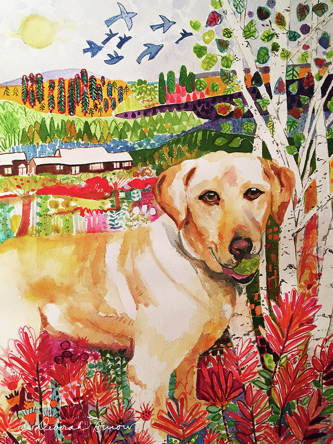 Pet Portraits Painting - Maggie by Deborah Burow