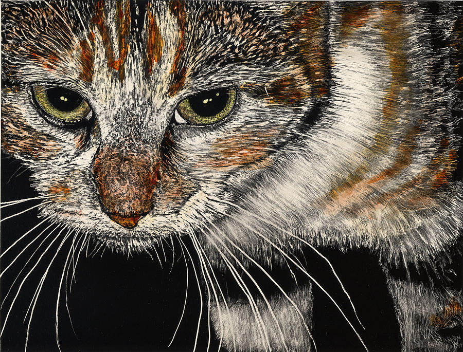 House Cat Painting - Maggie the Cat by Robert Goudreau