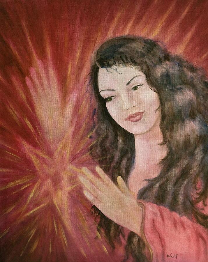 Magic Painting - Magic - Morgan Le Fay by Bernadette Wulf