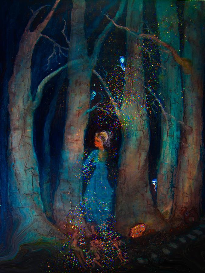Birch Trees Digital Art - Magic Birch Trees by Patricia Motley