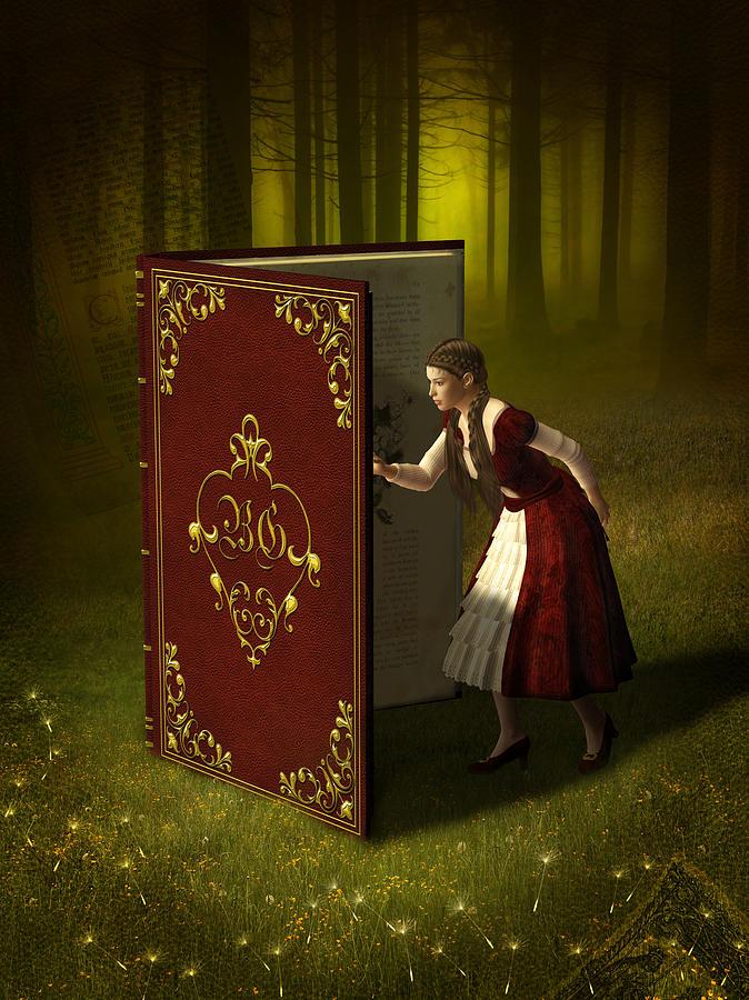 Magic Book Of Tales Mixed Media