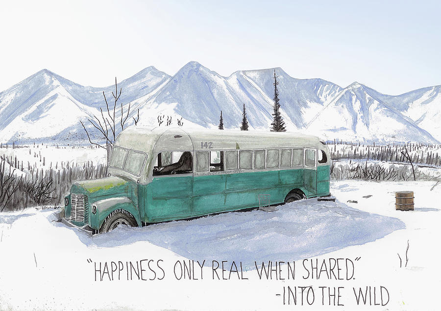 Magic Bus Into The Wild Painting By Jack Burdess