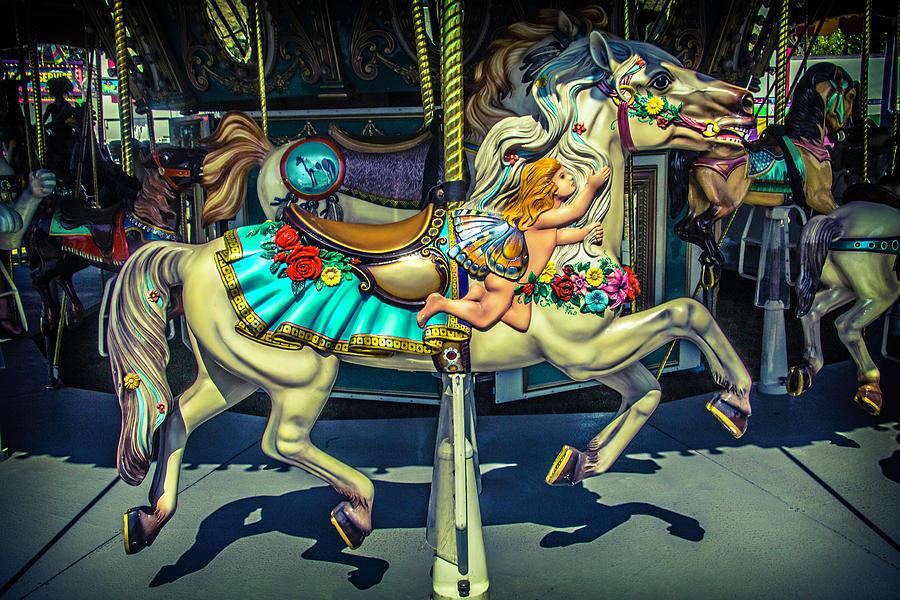 Carousel Photograph - Magic Carrsoul Horse by Garry Gay