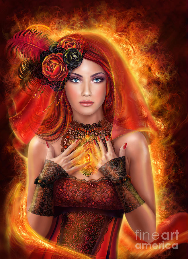 Fire Magic Fantasy Art
