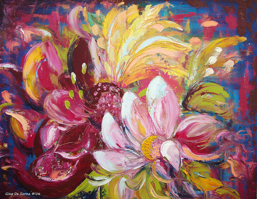 Magic Painting - Magic Flowers by Gina De Gorna
