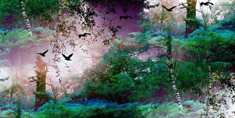 Magic Forest Mixed Media
