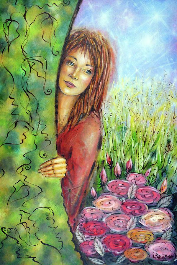 Original Painting - Magic Garden 021108 by Selena Boron