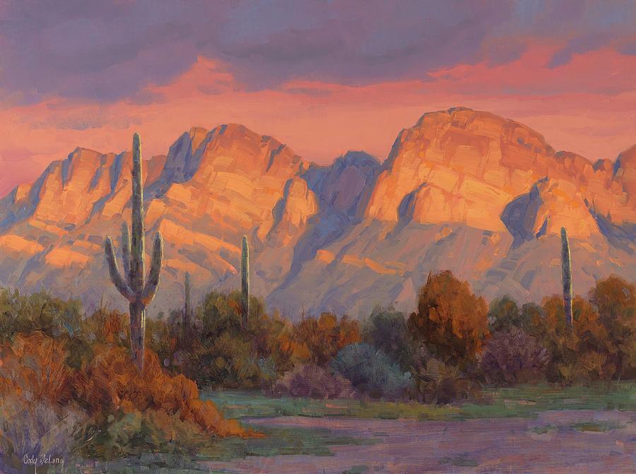 Saguaro Painting - Magic Hour by Cody DeLong