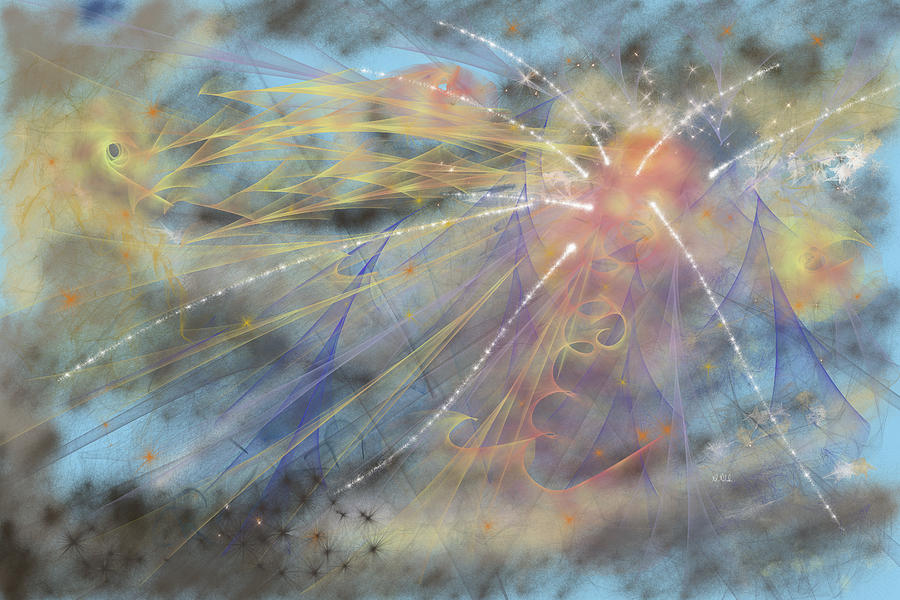Abstract Painting - Magic In The Skies by Angela Stanton