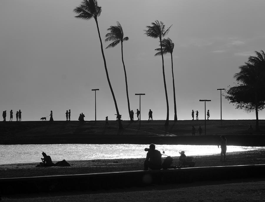 Magic Island Photograph - Magic Island Silhouettes by Kevin Smith