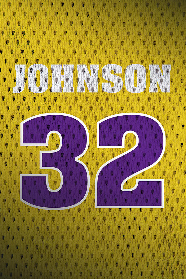new product 78bff 61518 Magic Johnson Los Angeles Lakers Number 32 Retro Vintage Jersey Closeup  Graphic Design