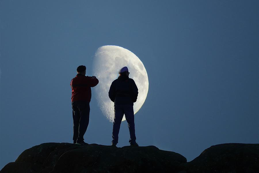 Moon Photograph - Magic Landscapes 2 -- Moon Men by Rick Lawler