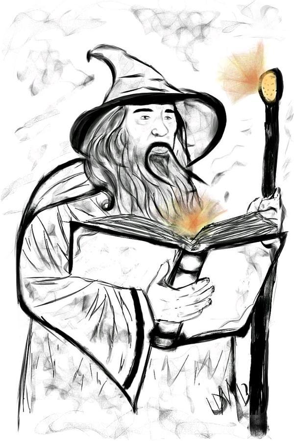 Wizard Digital Art - Magic by Leah Mitchell