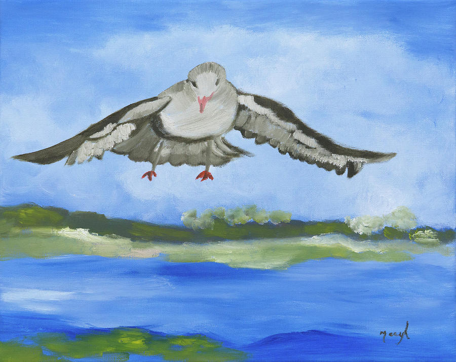 Seagull Painting - Magic by Meryl Goudey