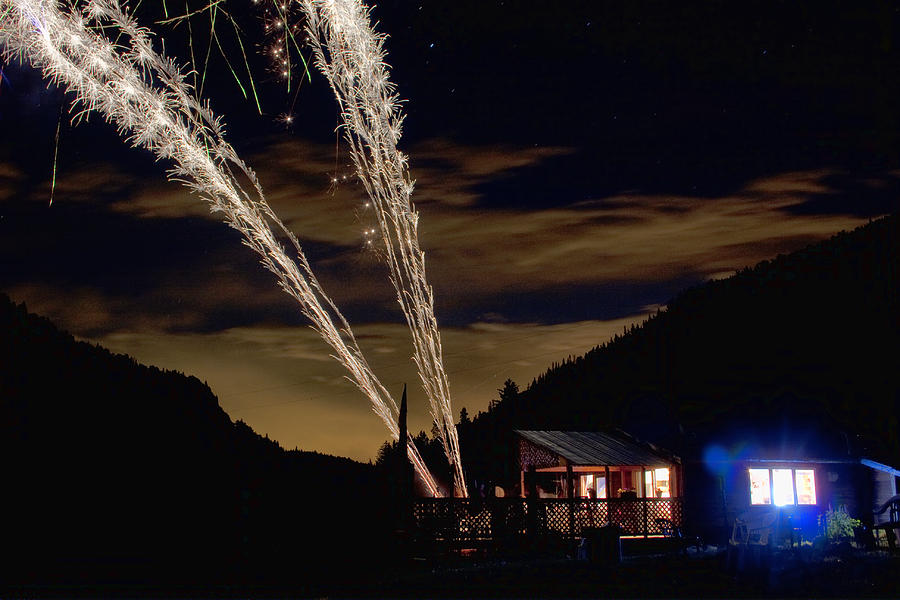Fireworks Photograph - Magic Mountain by James BO  Insogna