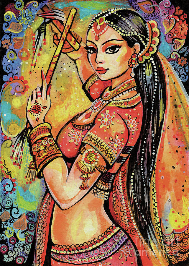 Indian Dancer Painting - Magic Of Dance by Eva Campbell