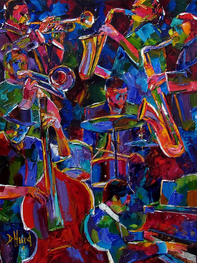Trumpet Painting - Magic Seven by Debra Hurd
