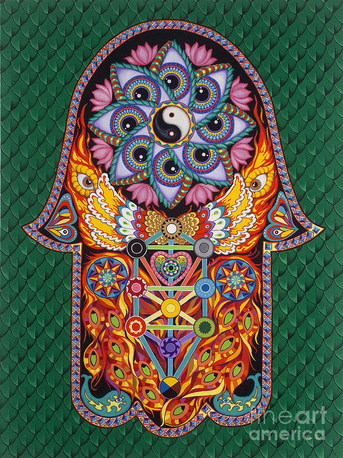 Hamsa Painting - Magic Vibes by Galina Bachmanova