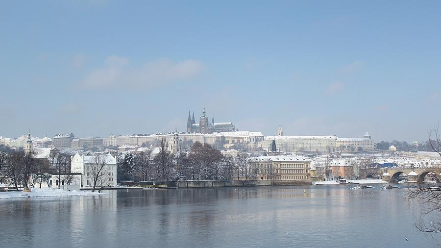 Magic winter view of Prague Castle by Radka Zimova King