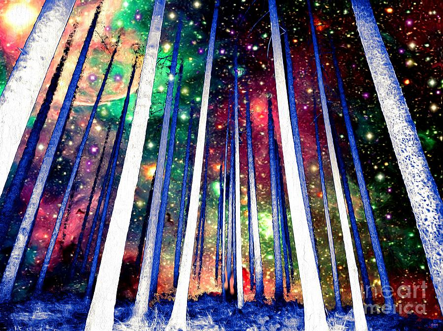 Magical Forest Painting Painting by Daniel Janda