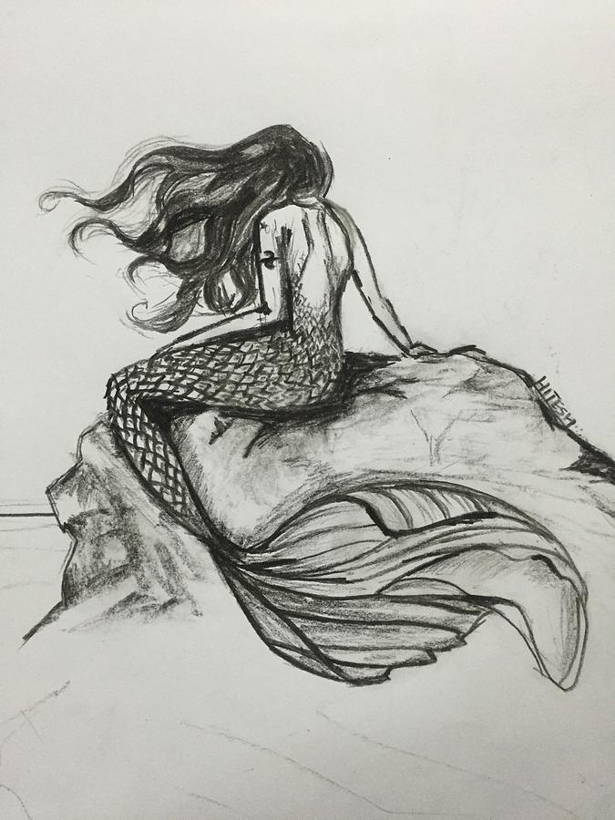 mermaid drawing magical mermaid by hitesh bhagat