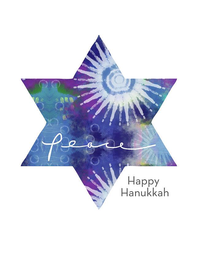 Hanukkah Mixed Media - Magical Peaceful Hanukkah- Art By Linda Woods by Linda Woods