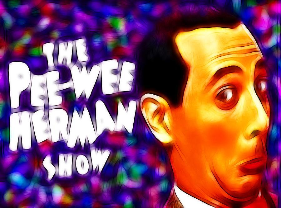 Pee Wee Painting - Magical Pee Wee Herman by Paul Van Scott