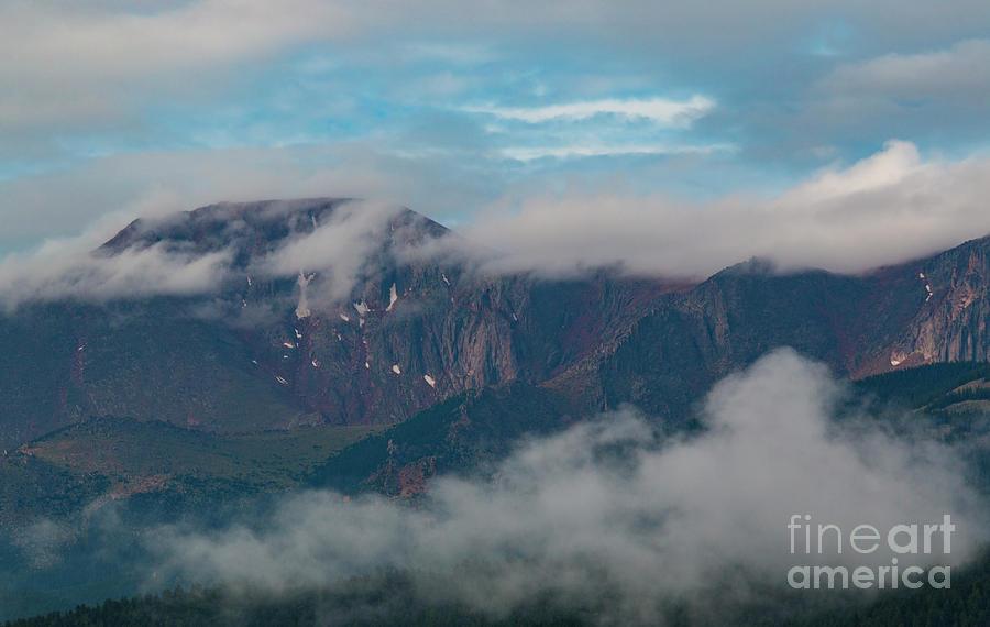 Magical Sunrise On Pikes Peak Colorado Photograph