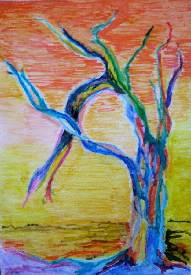 Abstract Painting Painting - Magical Tree by Suzanne Udell Levinger