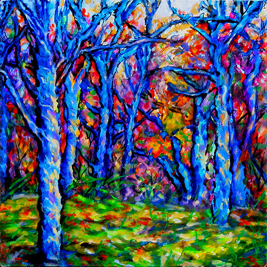 Landscape Painting - Magical Woodlands 1 by Laura Heggestad