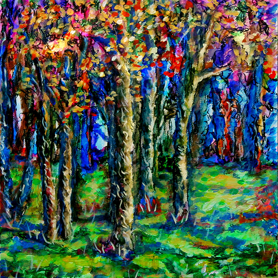 Landscape Painting - Magical Woodlands 2 by Laura Heggestad